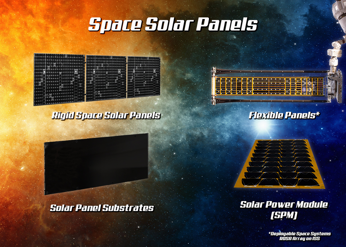 SPACE SOLAR PANELS